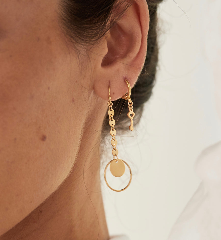 Charm Gold Hoop Earrings