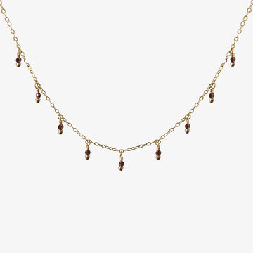 Rain Choker Necklace ~ Garnet