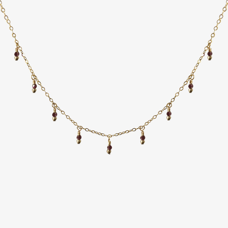 Rain Choker Necklace ✧ Garnet