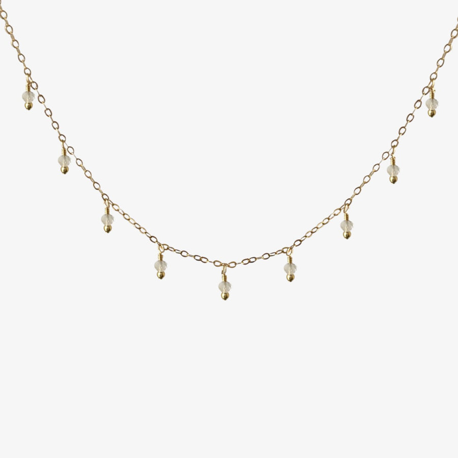 Rain Choker Necklace ~ Moonstone