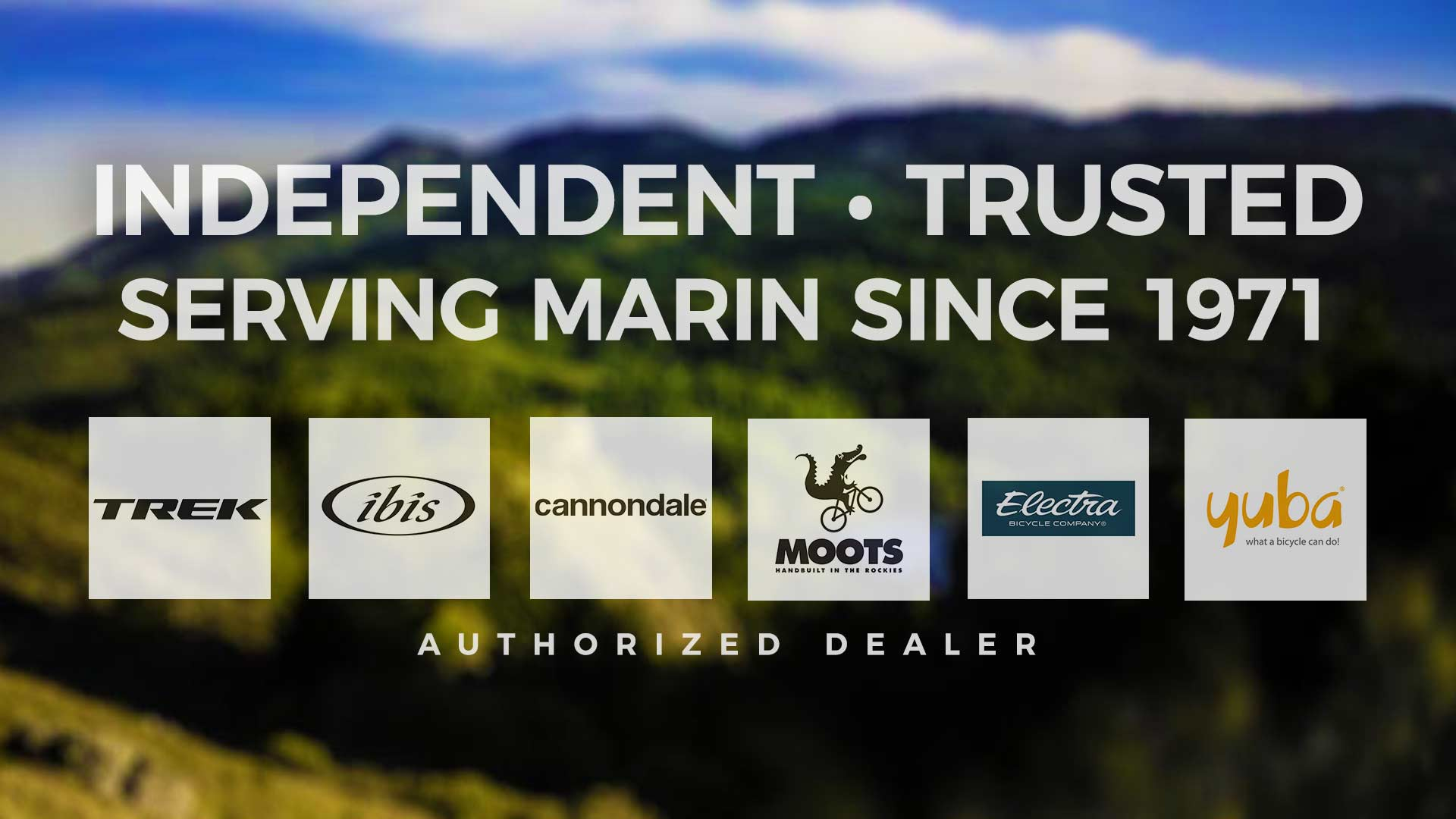 Sunshine Bicycle Center - Independent, Trusted, Serving Marin County Since 1971. Authorized dealer of Trek, Ibis, Cannondale, Moots, Electra and Yuba.