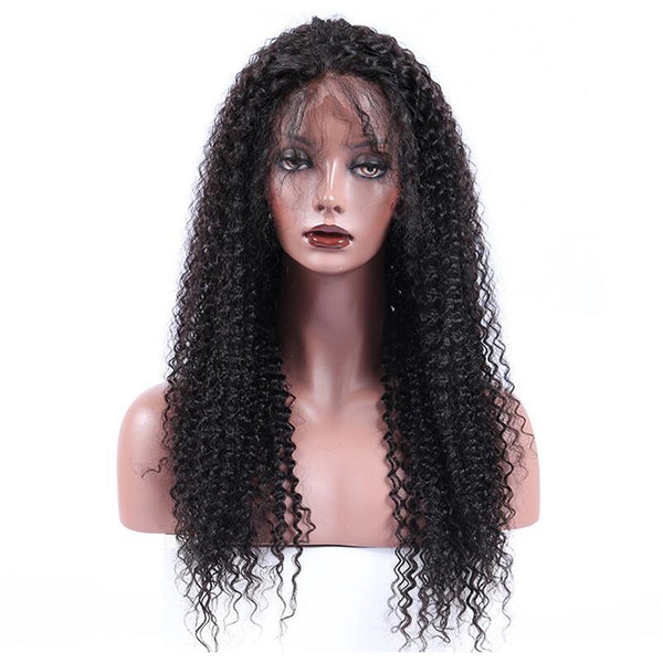 Linda Natural Jerry Curl Wig