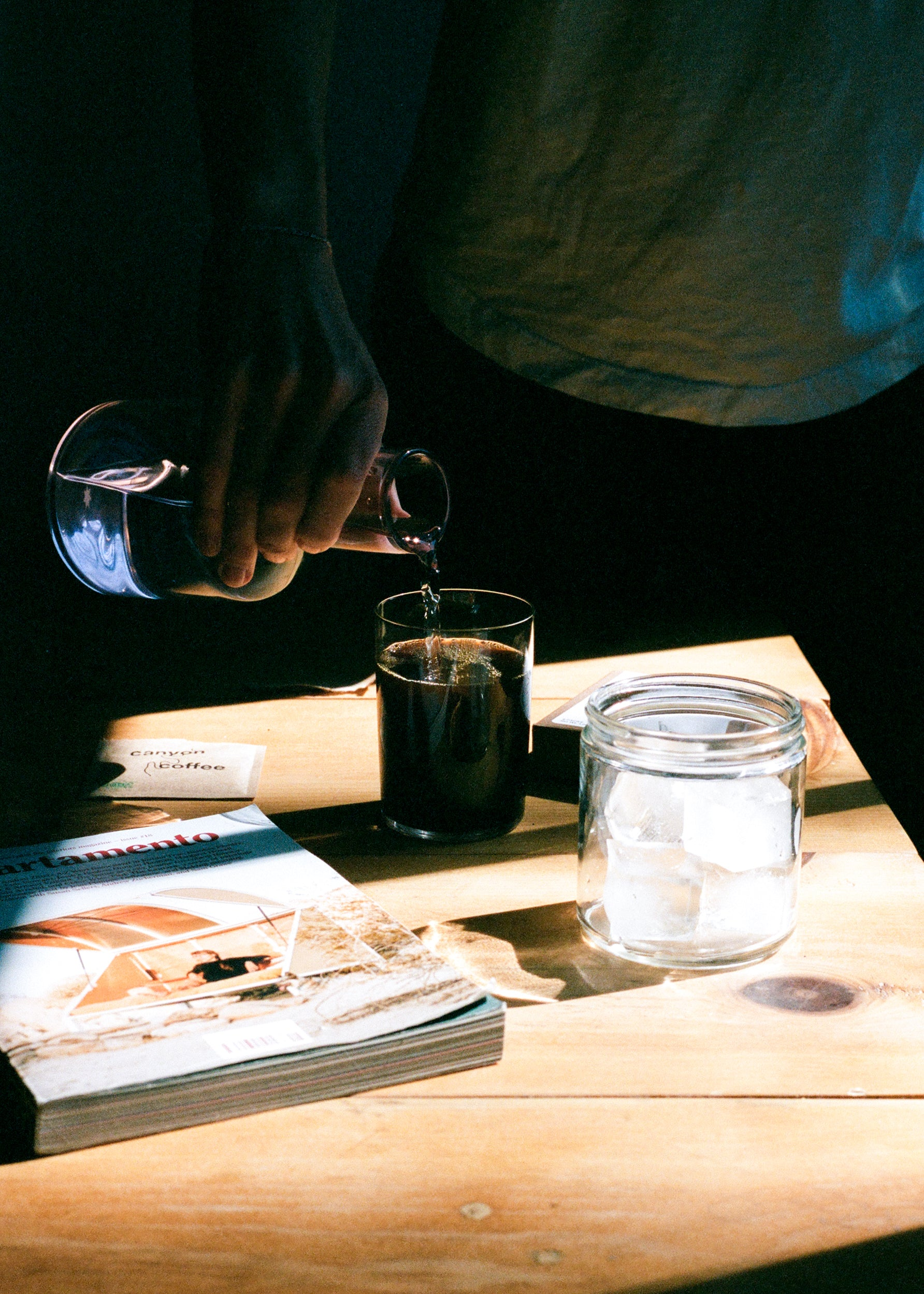 How to make an instant iced coffee at home.