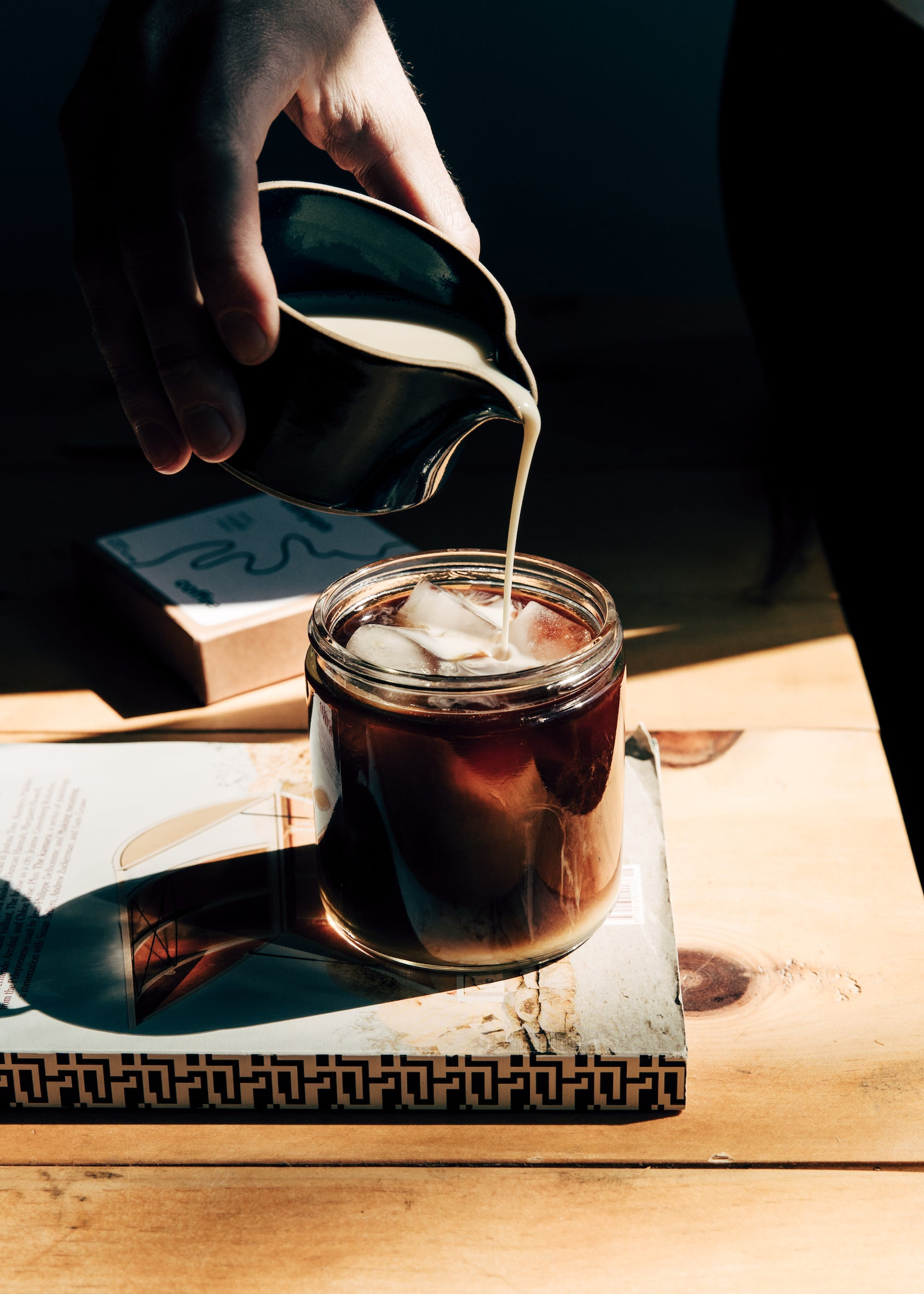 Instant iced latte recipe with Canyon Coffee; easy to make home coffee recipes