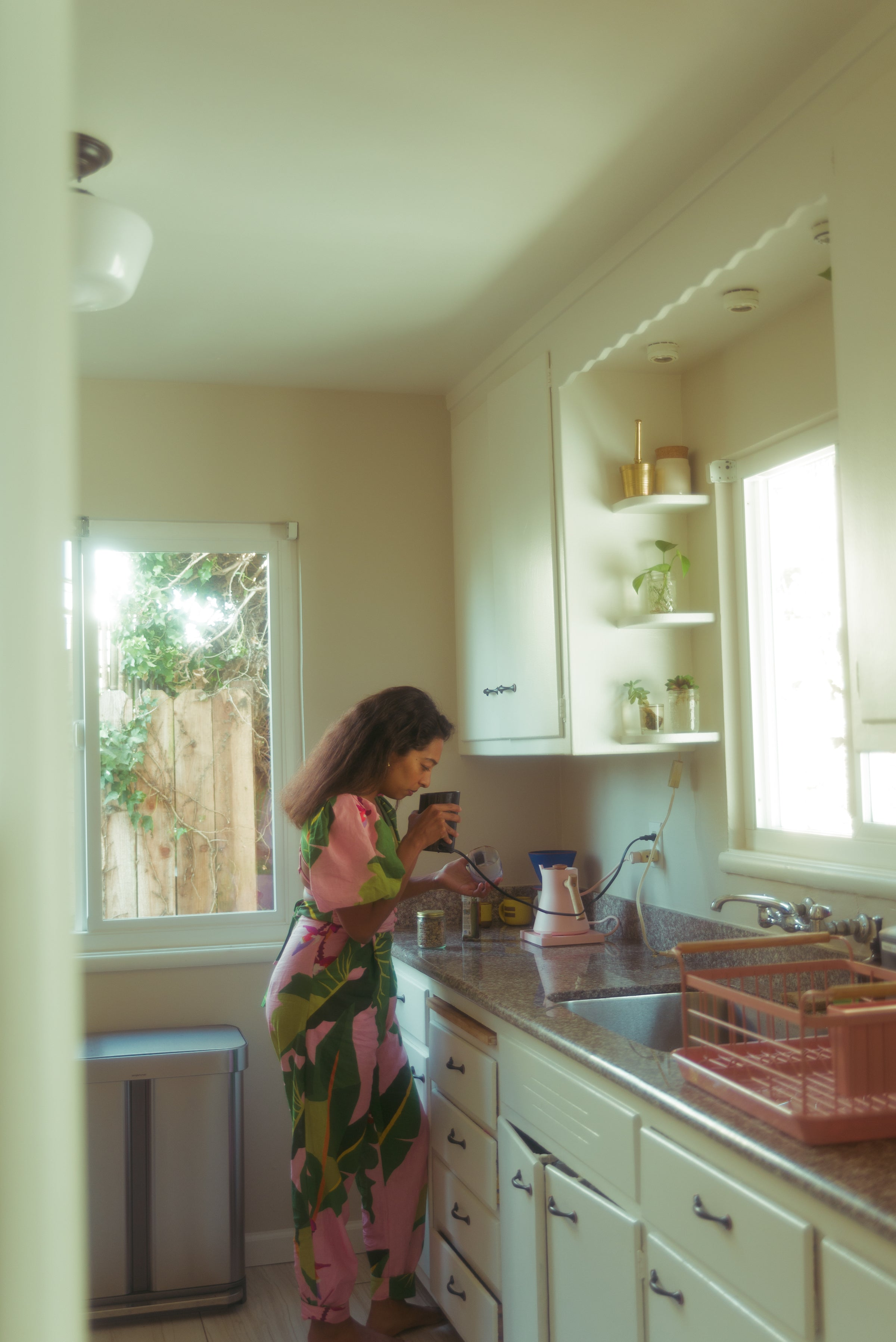 Sana Javeri Kadri in her home in Oakland, CA. Photo by Simrah Farrukh.