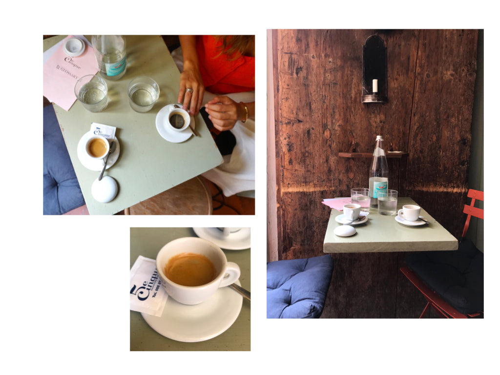 Coffee at 5 e Cinque vegetarian cafe in Florence, Italy | Photos by Canyon Coffee of Los Angeles