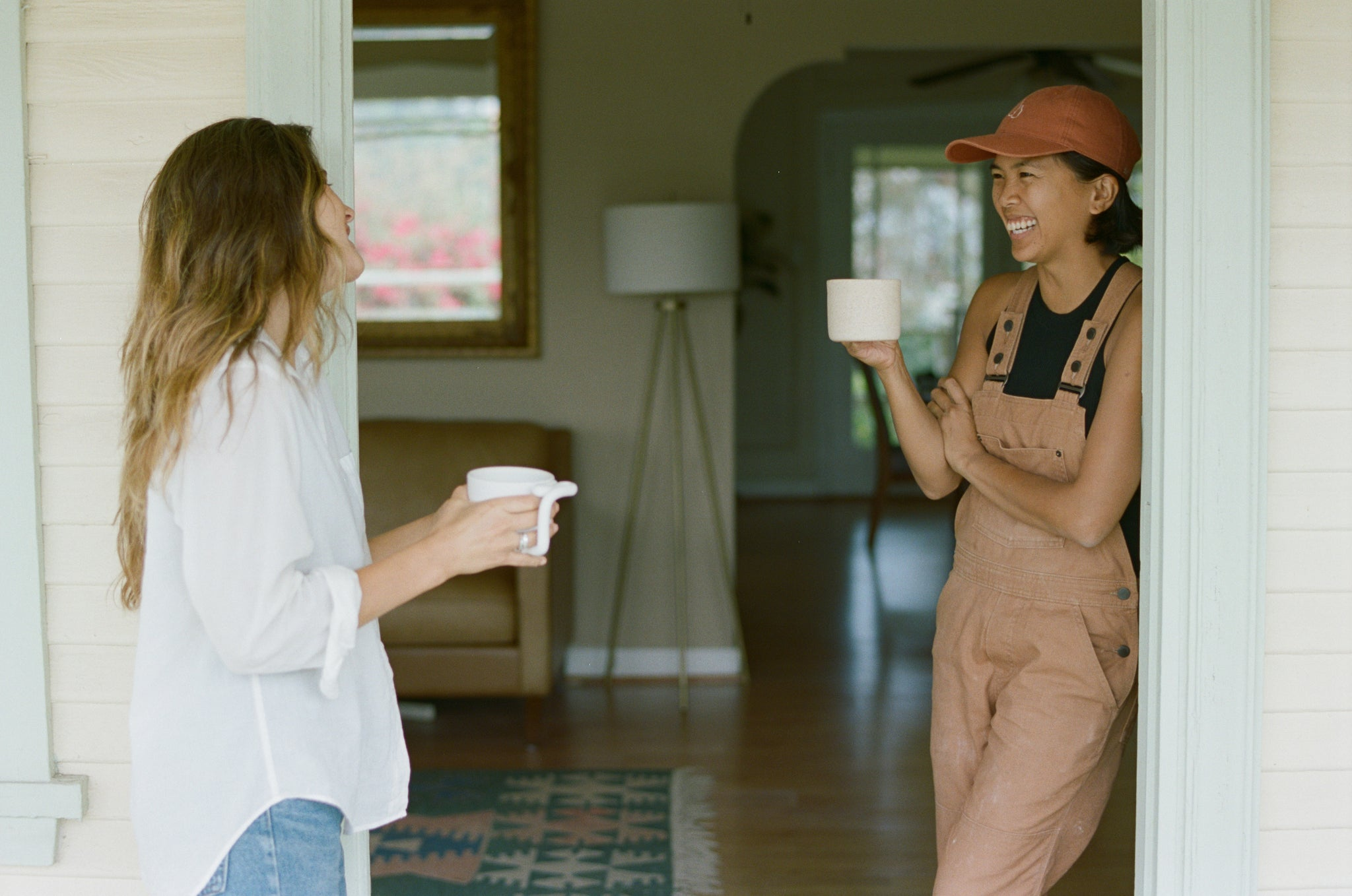 Ally Walsh of Canyon Coffee and Monica Galan of Salamat Ceramics in Highland Park, CA