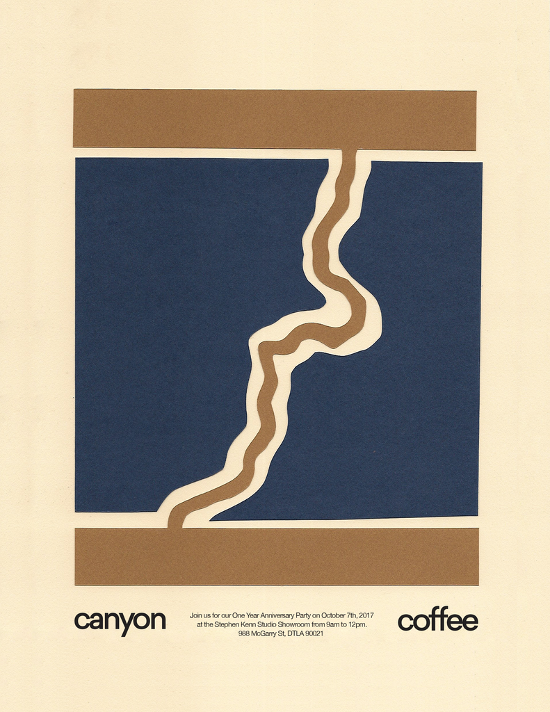 Canyon Coffee one year party poster