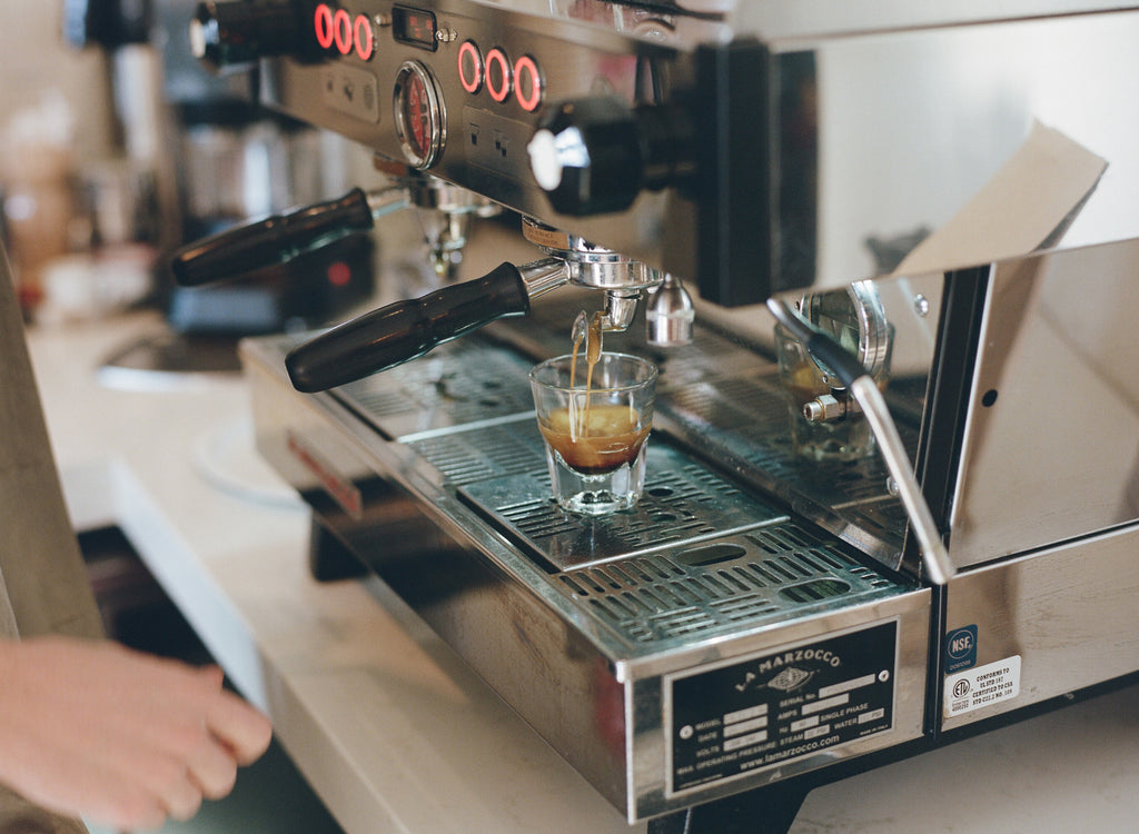 Canyon Coffee's Beachwood Espresso on-bar in Los Angeles | photo by Justin Chung