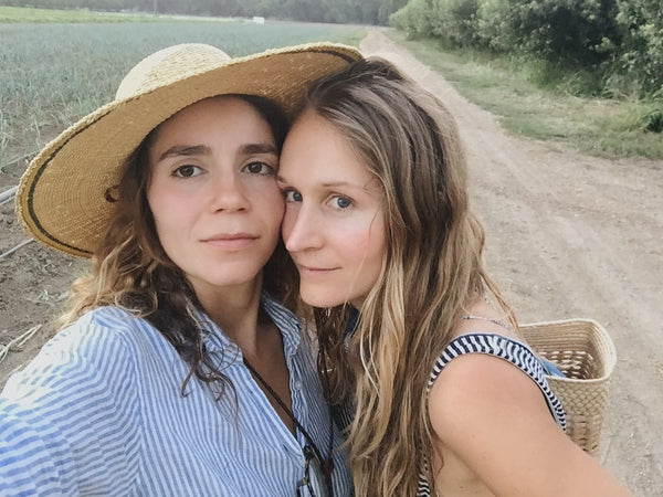 Isa and Kenzie, owners of Yo También, on Full Belly Organic Farm in NorCal | Canyon Coffee