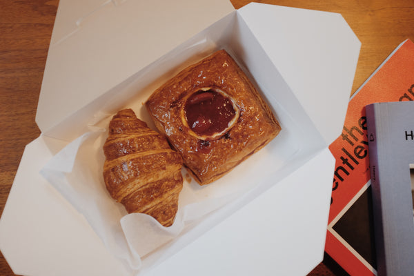 Buttered croissant and raspberry danish from Gjusta bakery in Venice, CA | Canyon Coffee