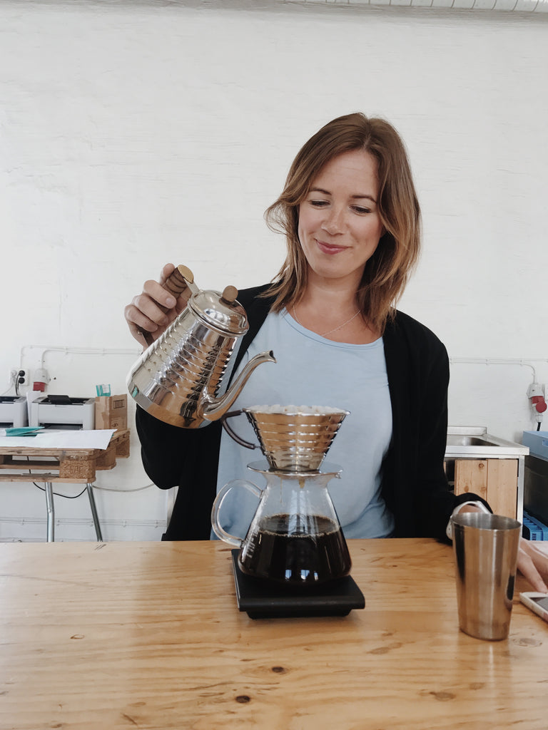 Joanna Alm, roaster, green coffee buyer and managing director of Drop Coffee in Stockholm, Sweden