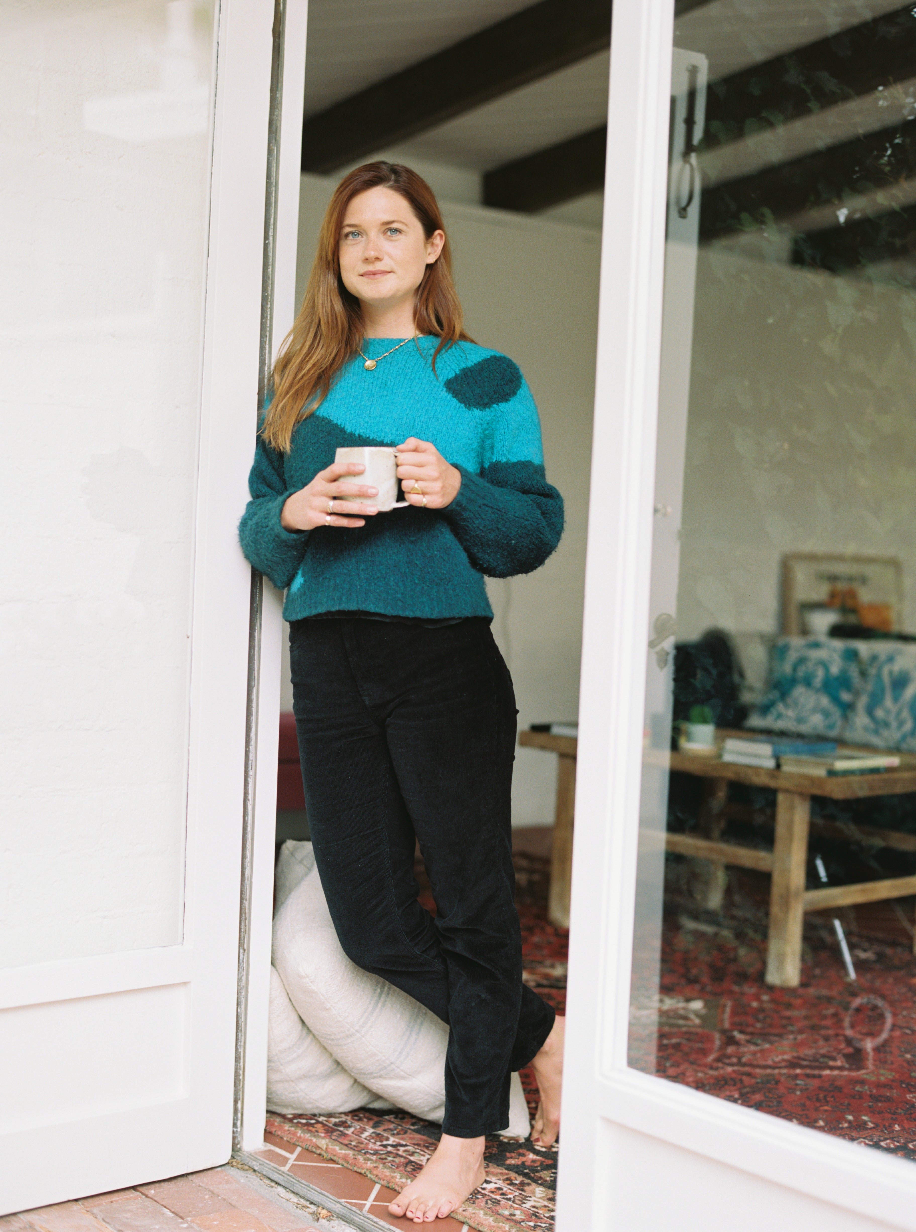 Bonnie Wright at her home in Rustic Canyon, 2020. Photo by Justin Chung.