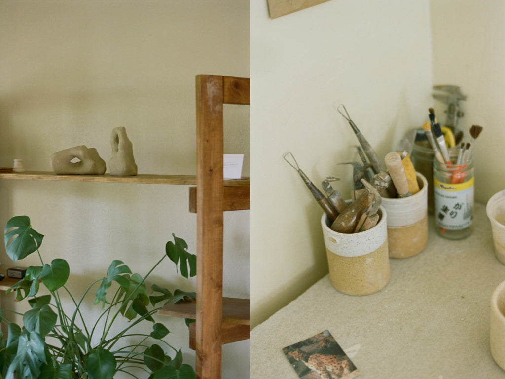 Still life photos of the ceramicist studio at Salamat Ceramics