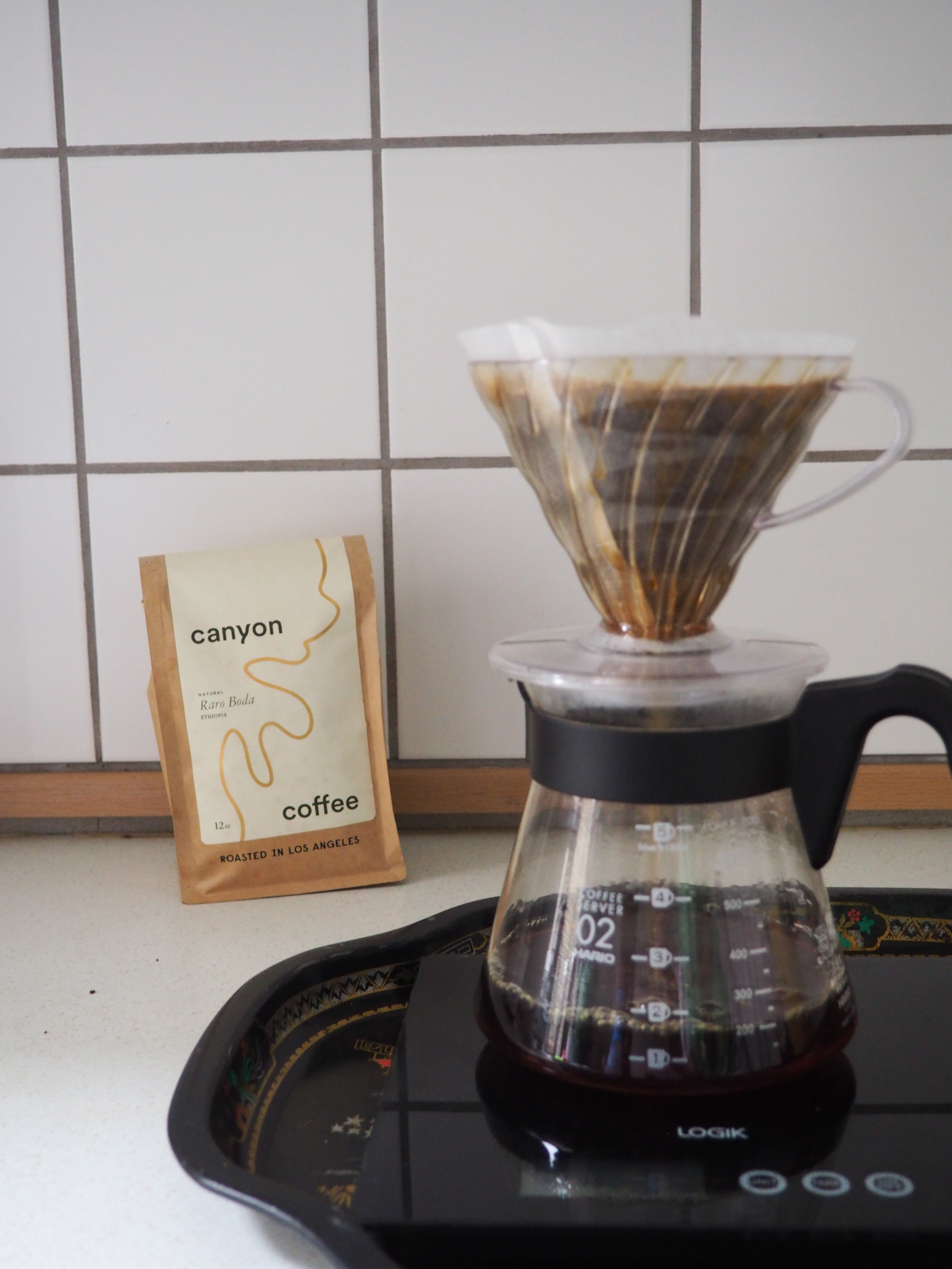 V60 Pour over made with Canyon Coffee