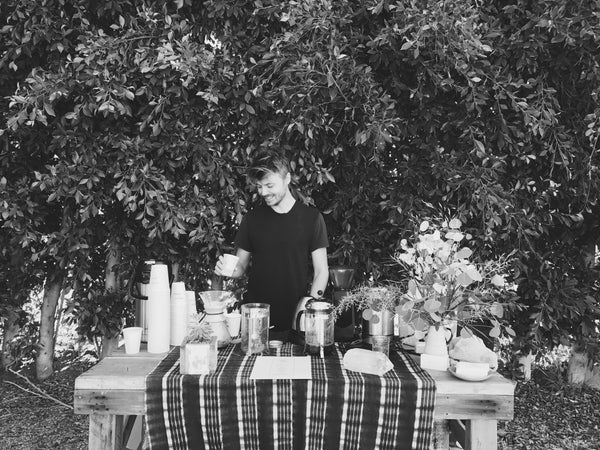 Casey Wojtalewicz | Canyon Coffee Owner | Coffee pop-up at Sefari Outpost in Malibu, CA