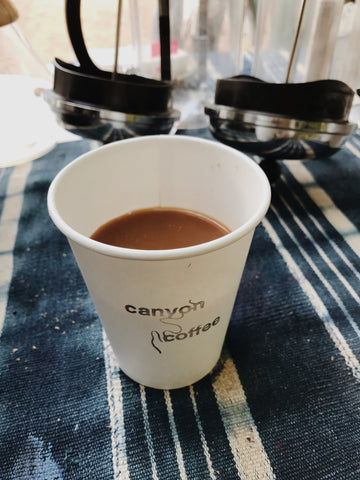 To-Go Coffee Cup | Canyon Coffee | Stamped coffee cup