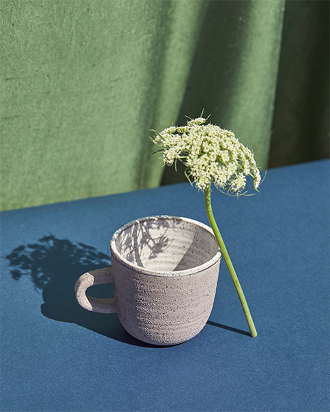 ANK Ceramic Mug with flower