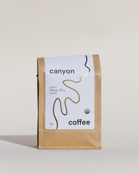 Dimtu Tero, organic Ethiopian coffee beans, by Canyon Coffee