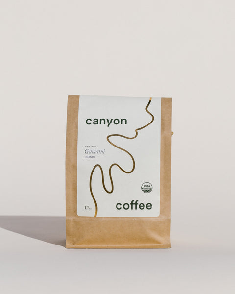 Gamatui, a red honey process coffee from Uganda. Certified organic. By Canyon Coffee.