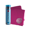 Fuchsia Chill Towel with packaging