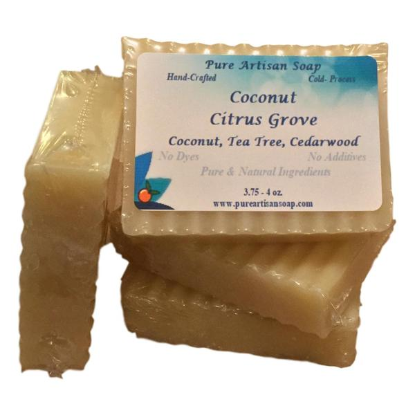 Pure Artisan Bergamot Cedarwood Coconut Oil Soap Bar