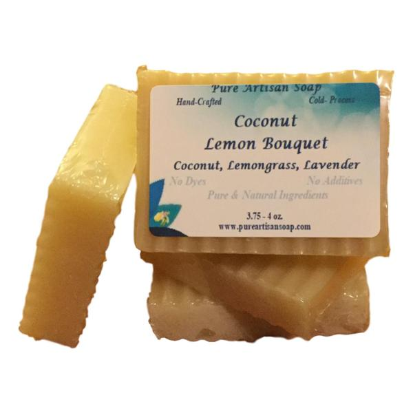 Pure Artisan Lemongrass Lavender Coconut Oil Soap Bar