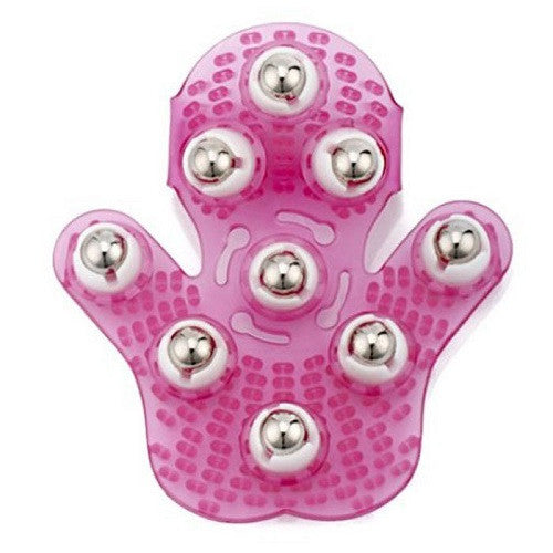 All Natural Soap, Handmade Soap - Cellulite Smoothing Massager Mitt w/ Rotating Chrome Balls