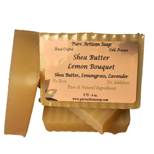 Pure Artisan Shea Butter lavender patchouli lemongrass soap bar