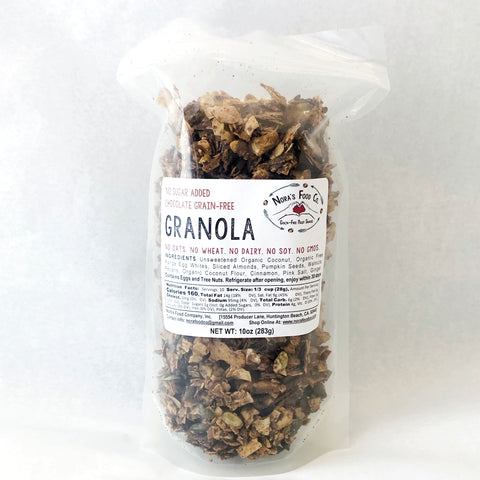 No Sugar Added Chocolate Grain Free Granola [10oz]