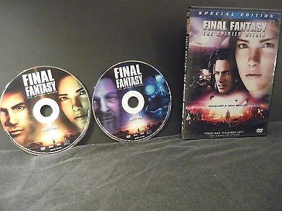 Final Fantasy: The Spirits Within DVD (WIDESCREEN) 2 Movie Discs Special Edition
