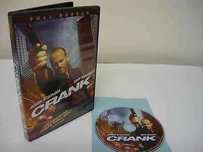 Crank DVD (FULLSCREEN) Action Adventure Movie Jason Staham Amy Smart Efren Ramir