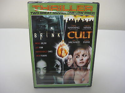 Brink/Cult DVD Brand New!! 2 Movies Horror Suspense Thriller Movie Rachel Balzer