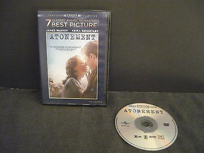 Atonement DVD (FULLSCREEN) Drama Keira Knightley James McAvoy Romola Garai
