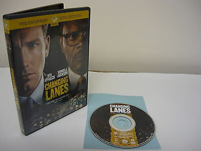 Changing Lanes DVD (WIDESCREEN) Action Adventure Ben Affleck Samuel L. Jackson
