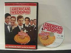 American Wedding DVD FULLSCREEN Extended Unrated Party Edition Comedy Adventure