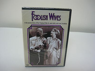 Foolish Wives DVD Brand New!! (FULLSCREEN) Action Adventure Not Rated Movie Sale