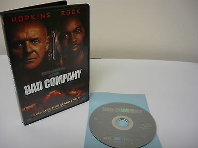 Bad Company DVD (WIDESCREEN) Comedy Adventure Anthony Hopkins Chris Rock
