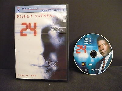 24 - Season 1 DVD DISC 3 EPISODES 9-14 Action Adventure Kiefer Sutherland Sale