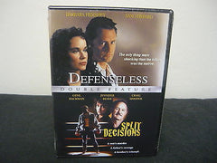 Defenseless/Split Decisions (DVD) Brand New! Not Rated Double Feature Action