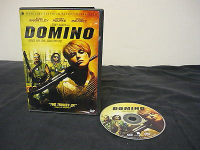 Domino DVD FULLSCREEN Action Adventure Keira Knightley Mickey Rourke