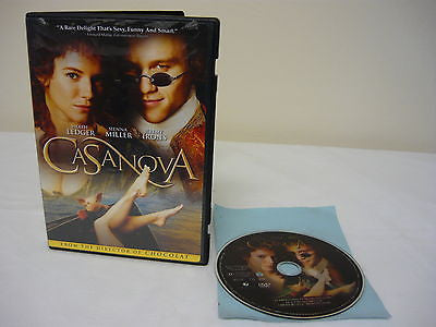 Casanova DVD (WIDESCREEN) Action Adventure Heath Ledger Sienna Miller Lena Olin