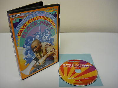 "Dave Chappelle's Block Party DVD( FULLSCREEN) Rated ""R"" Version Comedy Action"