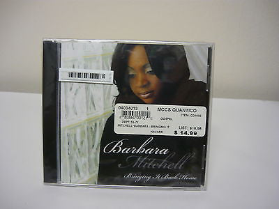 Bringing It Back Home by Barbara Mitchell CD Brand New!! R&B Soul Music Real