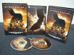 Batman Begins DVD WIDESCREEN 2 Movie Disc Deluxe Edition Sci-Fi Fantasy Movie