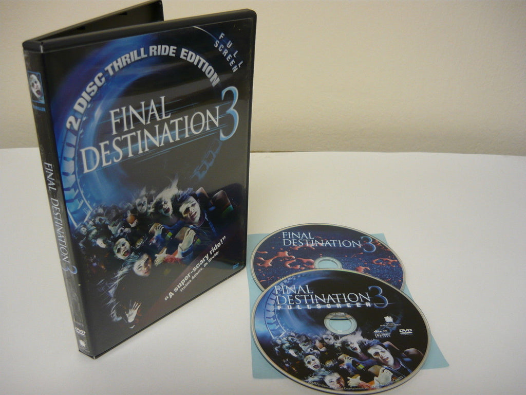 Final Destination 3 DVD FULLSCREEN 2 Disc Set Thrill Ride Edition Horror Movie