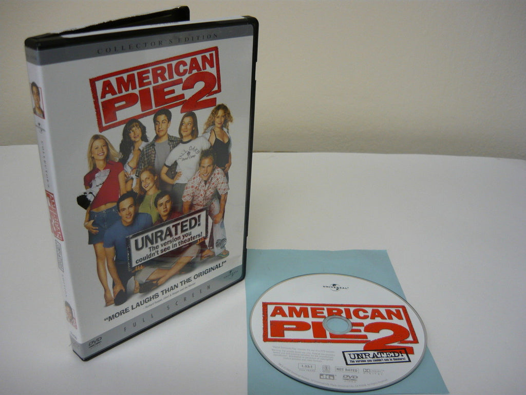 American Pie 2 DVD (FULLSCREEN) Unrated Collector's Edition Comedy Adventure Mov