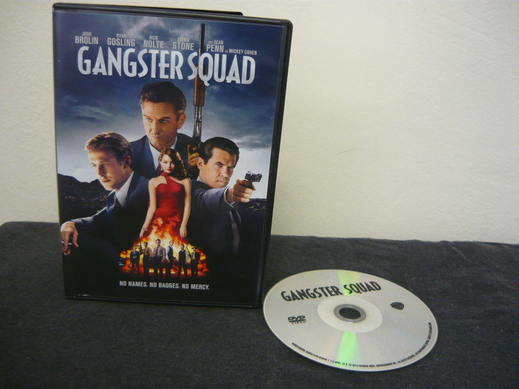 Gangster Squad DVD (WIDESCREEN) Single Disc Version Action Adventure Sean Penn