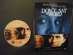 Don't Say a Word DVD (WIDESCREEN) Drama Movie Michael Douglas Brittany Murphy Sa