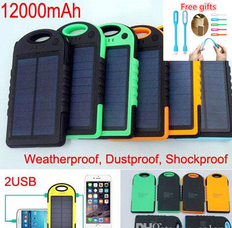 12000 mAh Solar Charger- camp planning store- camping gear and gadgets